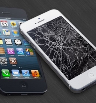 Replace the glass iPhone 4, 4S Genuine Cheap