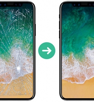 Replace glass, screen iphone X, iphone 8plus